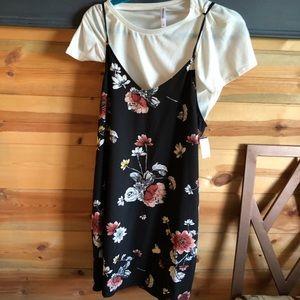 Dress with shirt